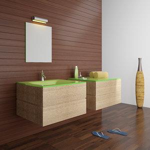 kadras kf-1809 wash-basin bathroom accessories 3d 3ds