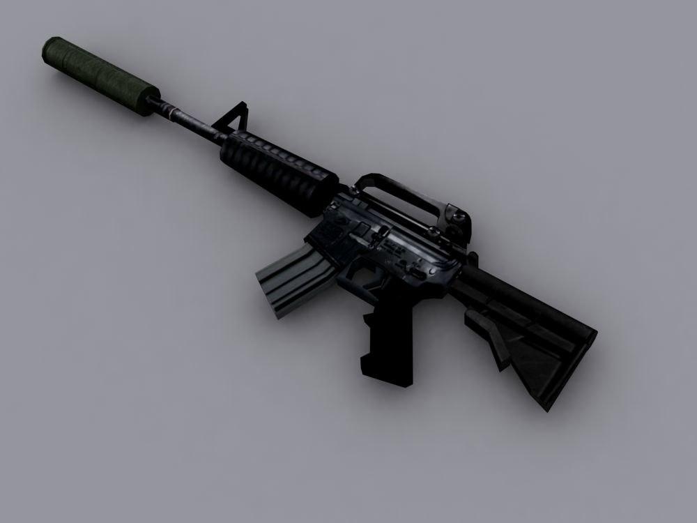 3d m4 assault rifle model