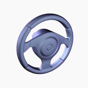car steering wheel 3d 3ds