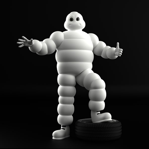 3ds max michelin character tyre