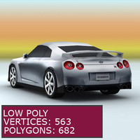 Nissan GTR 2008 (low poly)