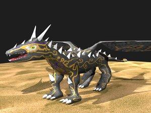 3d dragon time