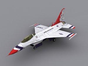 3d f-16 thunderbird display model