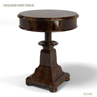 ralph lauren  anglesey traditional round end side classic table 1802-41