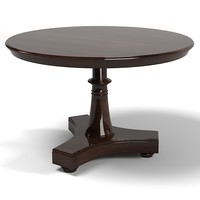 round side end table dining big traditional classic pedestal