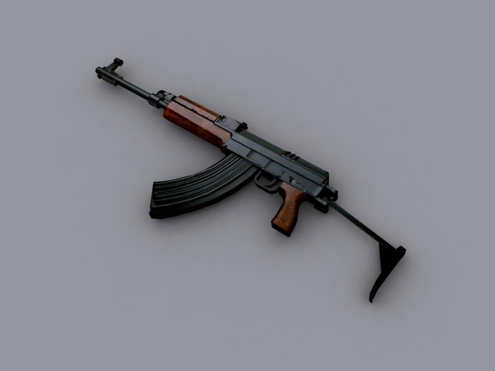 3d czech sa58 rifle model