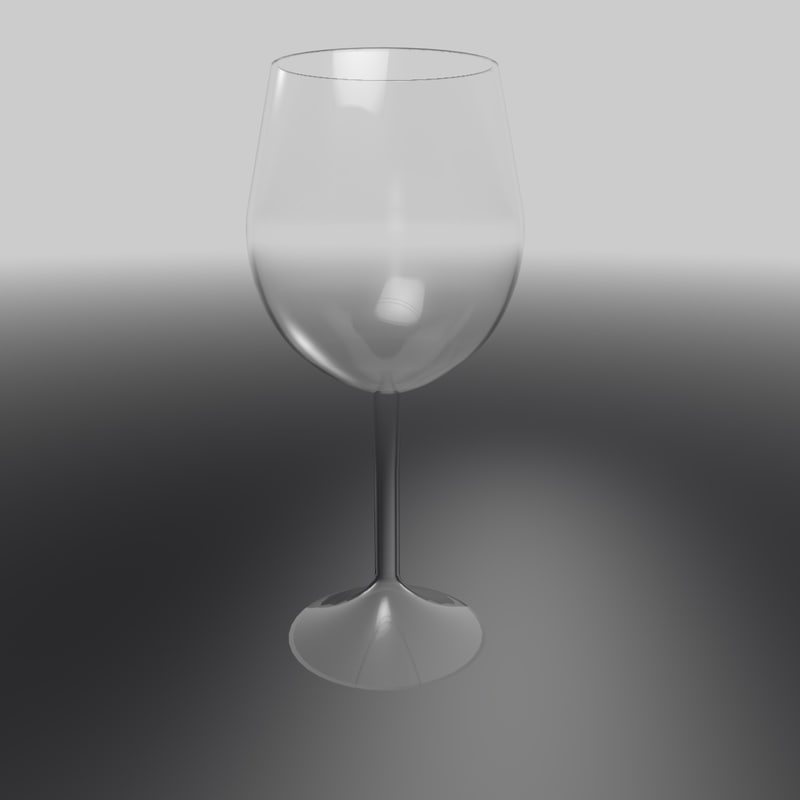 3d glass wineglass wine