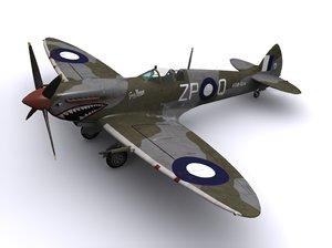 3d model supermarine spitfire fighter mk