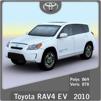 2010 toyota rav4 ev 3d model