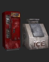 3d props soda machine ice model