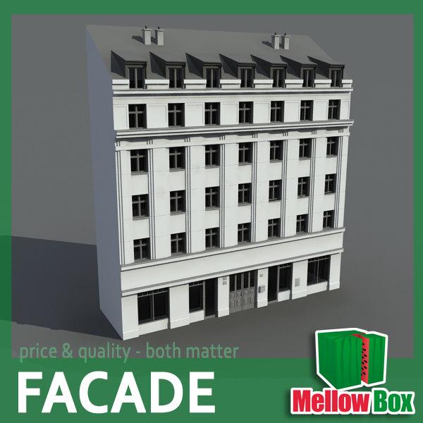 3ds max city house facade