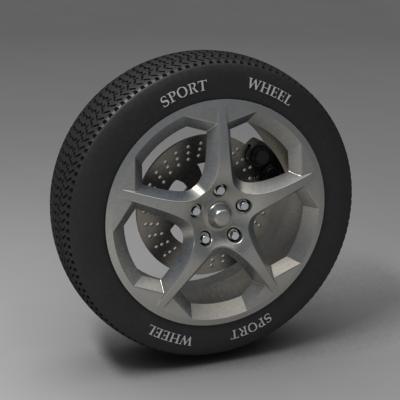 3d sport wheel model