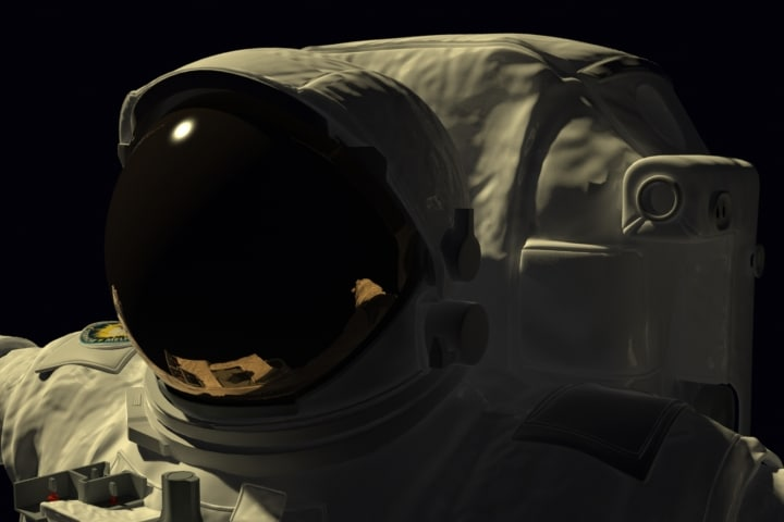 3d astronaut spaceman character model