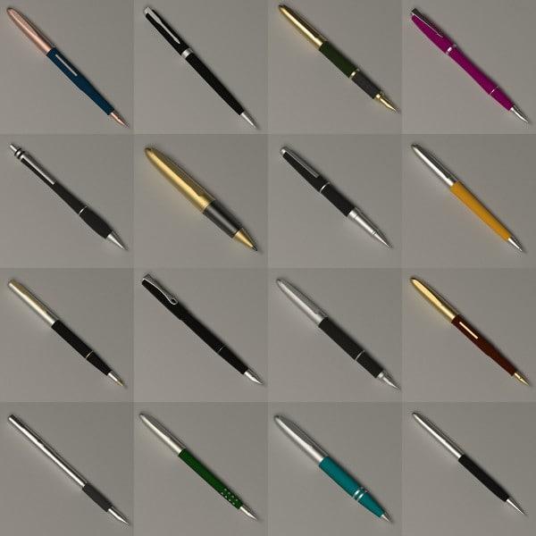luxury pens 3d model