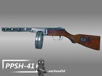 ppsh-41 submachine gun 3ds