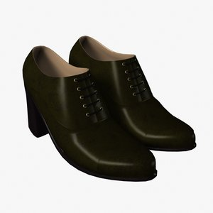 woman shoes 3d fbx