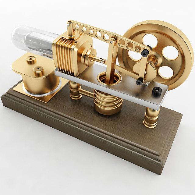 robinson stirling engine 3d model