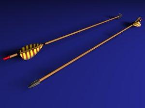 arrows arrowheads modern 3d model