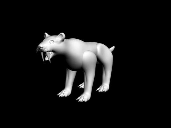 free saber-toothed tiger 3d model