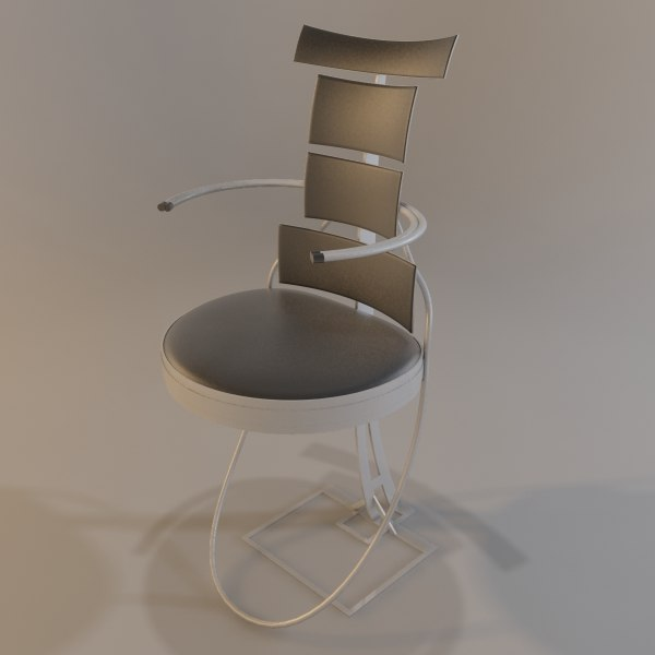 chair futuristic 3ds