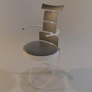 chair futuristic 3ds