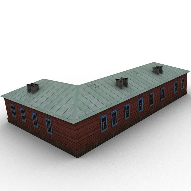 3ds max old wood house
