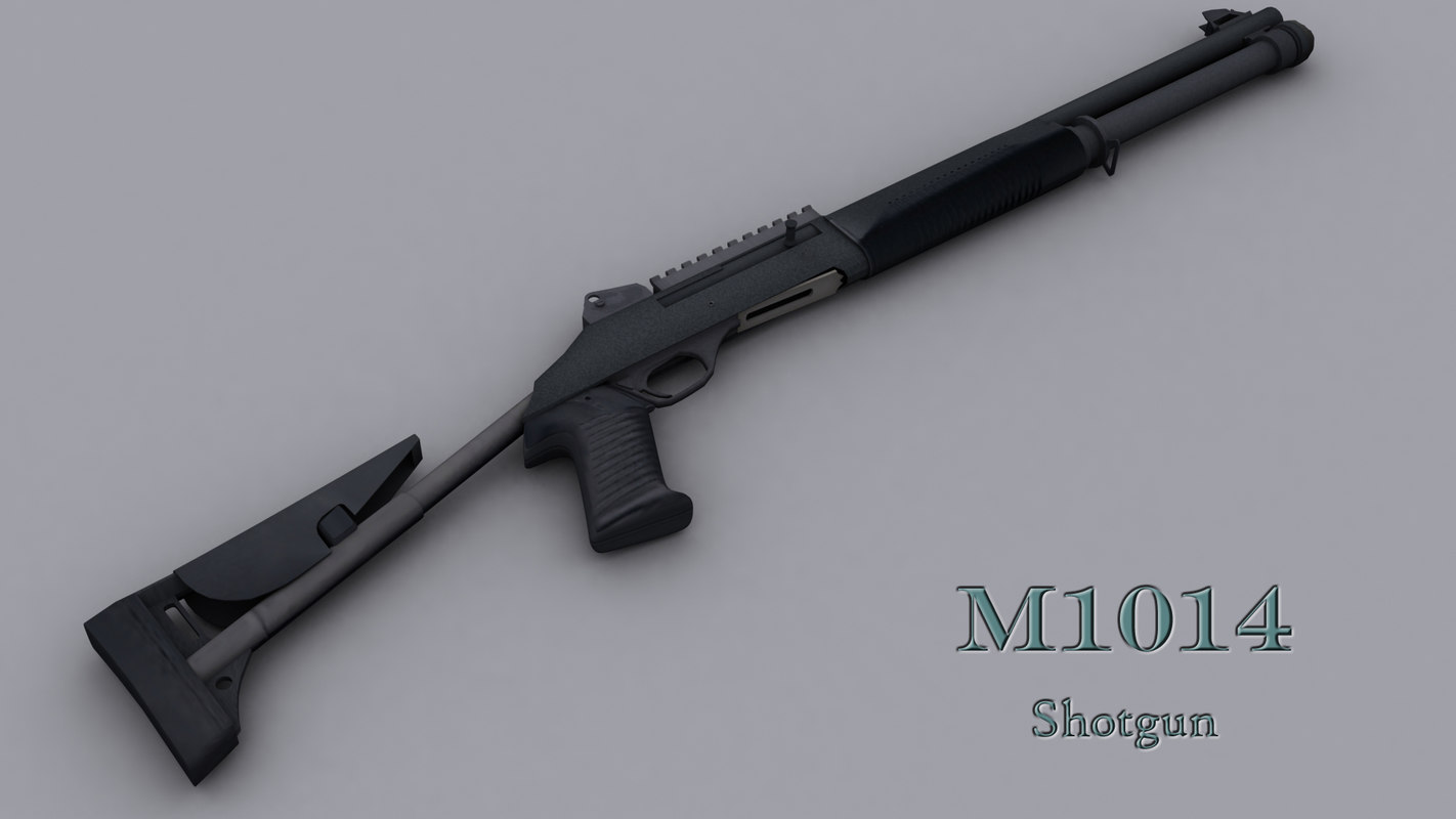 3d model shotgun m1014