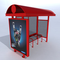 bus shelter obj