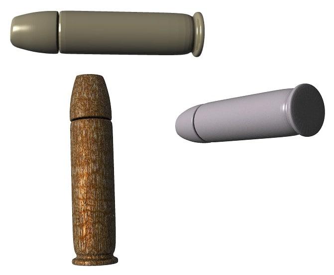 3dsmax 357 magnum bullet
