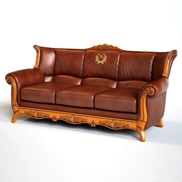3d photorealistic armchair sofa model