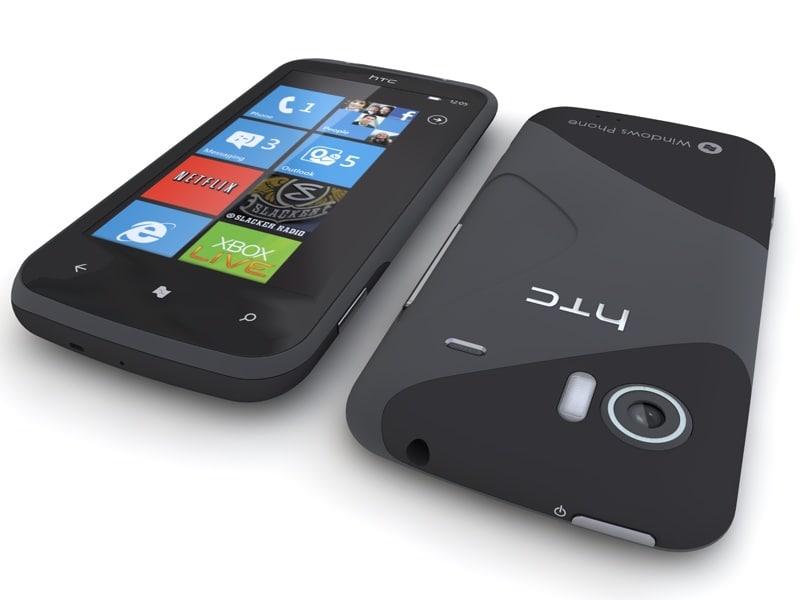 htc mozart phone 3d model