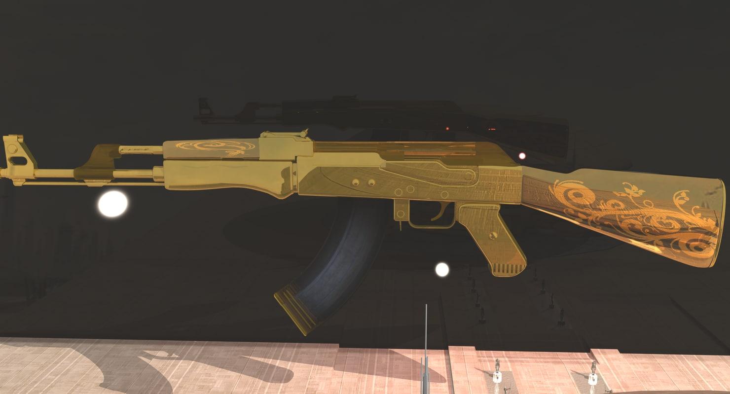 3d golden gold