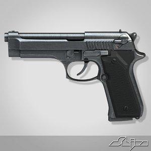 3d model beretta handgun