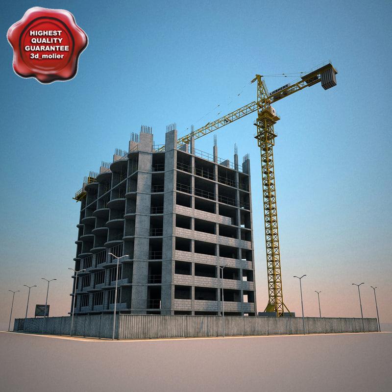 3d model building construction v2