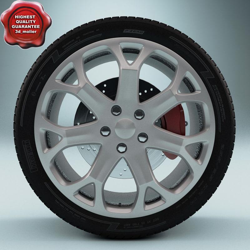 3ds max car wheel