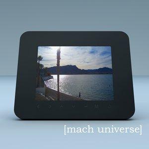 3d coby digital picture frame model