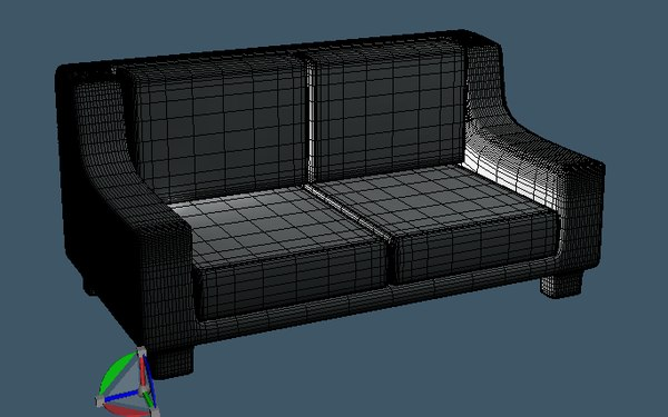 couch sofa chair 3d x