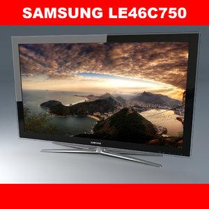 tv samsung le46c750 3d 3ds