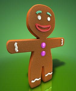 free gingerbread man 3d model