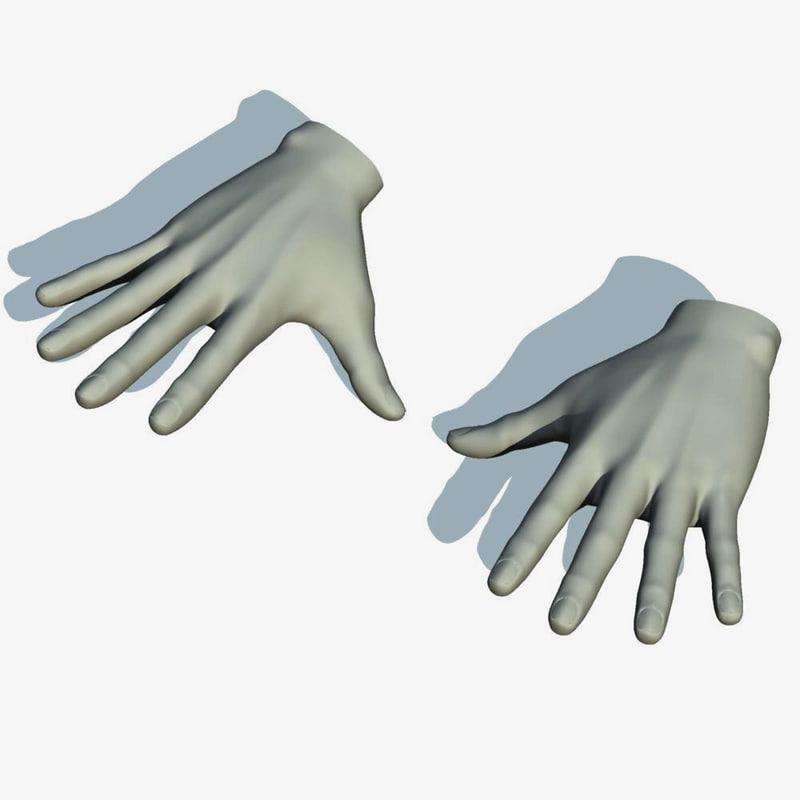 3d realistic hand model