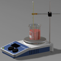 science lab hot plate 3d max