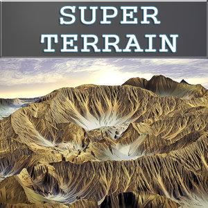 3d model terrain crater landscapes