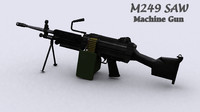 maya m249 saw machine gun