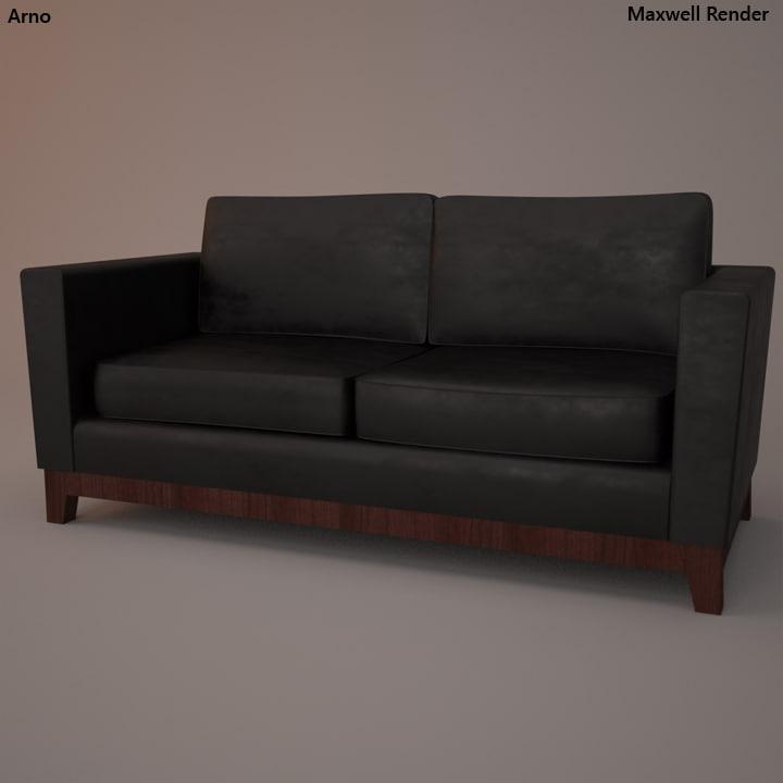 3d leather sofa model