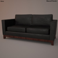 3d leather sofa model