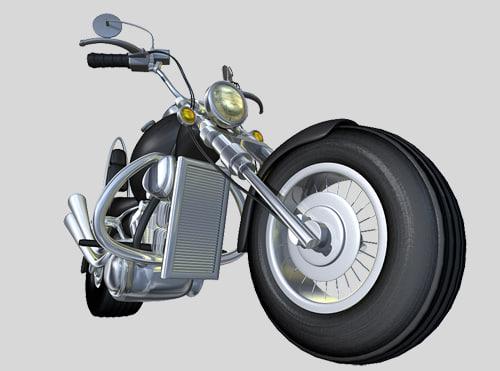 cartoon motorcycle lwo