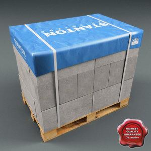 pallet bricks 3ds