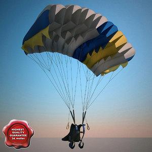3d parachute v2 model