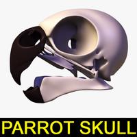 3d parrot skull model