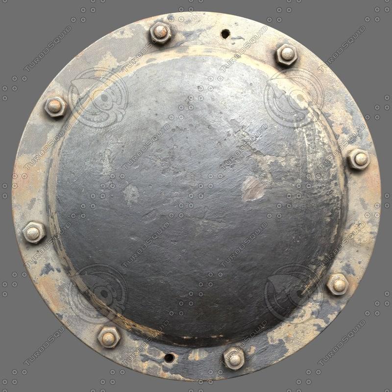 riveted metal 1b 3d c4d